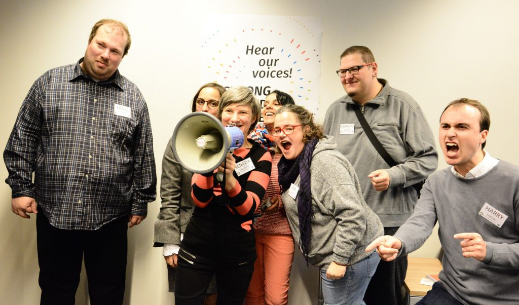 Picture of self-advocates at Hear our voices 2017
